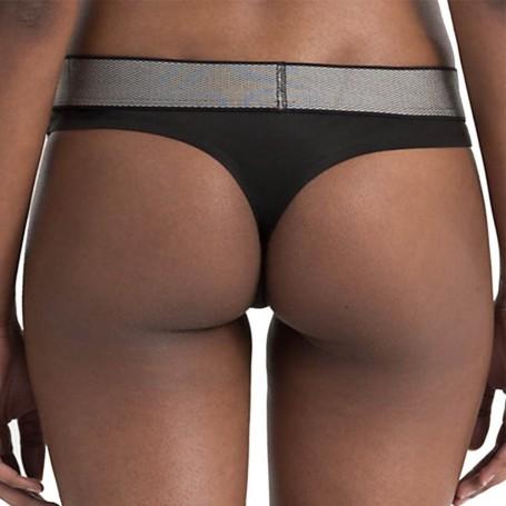 Calvin Klein tanga QF4054E černá