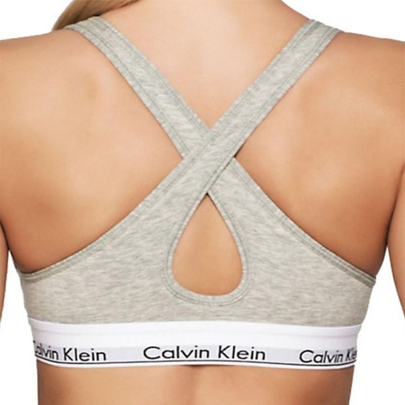 Calvin Klein podprsenka QF1654E šedá