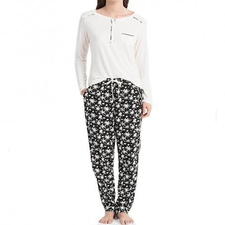 Calvin Klein dámské pyžamo QS5821E smetanové
