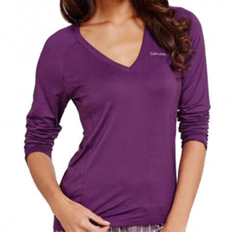 Calvin Klein dámské triko S2659E fialové