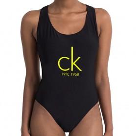 Calvin Klein plavky v celku černé