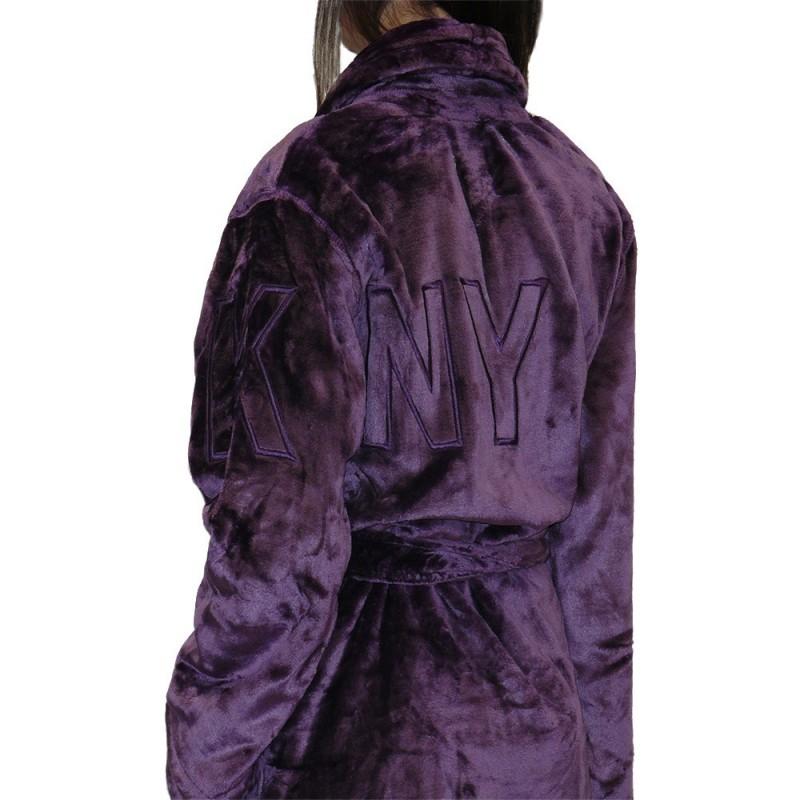 DKNY krátký župan fialový