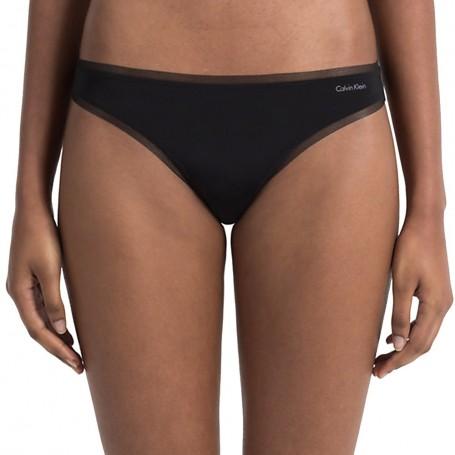 Calvin Klein tanga QF1666E černá