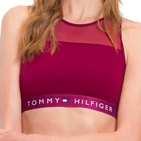Tommy Hilfiger podprsenka Sheer Cotton vínová