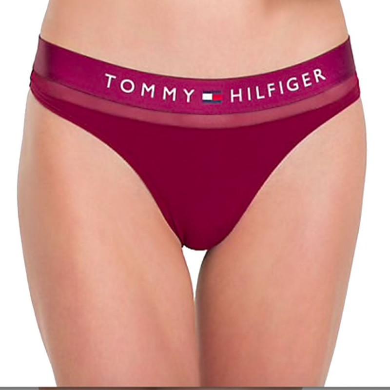 Tommy Hilfiger tanga Sheer Cotton vínová