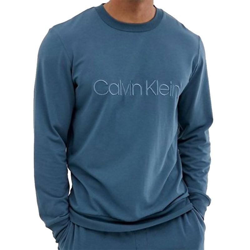 570f6e465b Calvin Klein pánská mikina petrolejová