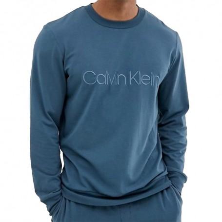 Calvin Klein pánská mikina NM1628E petrolejová