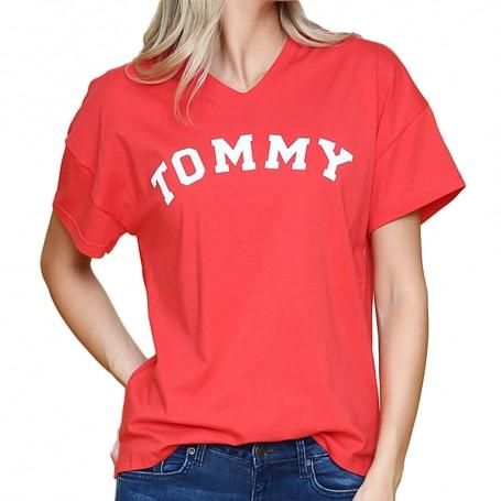 Tommy Hilfiger dámské tričko červené