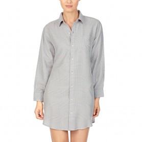 Ralph Lauren dlouhá košile šedá ILN31738 kostka