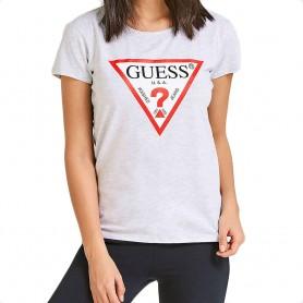 Guess dámské tričko logo šedé