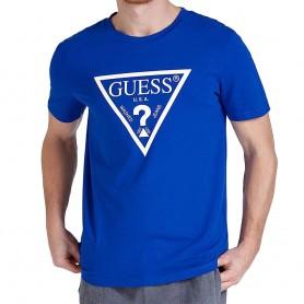 Guess pánské tričko U94M09 modré