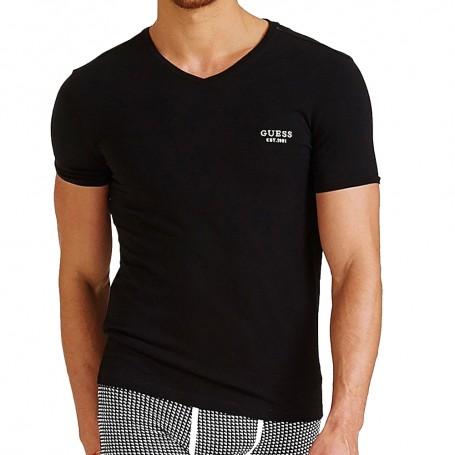 Guess pánské tričko U94M17 černé