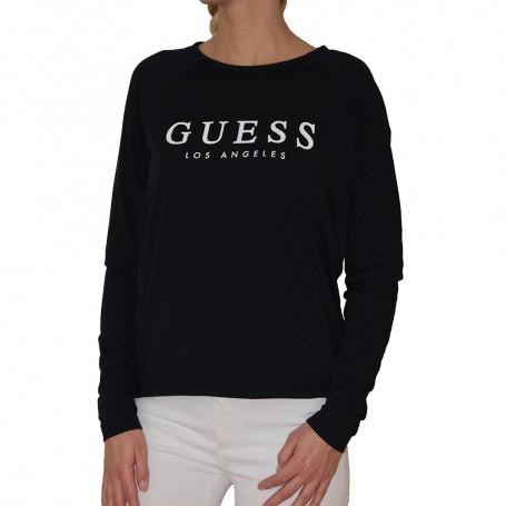 Guess tričko s dlouhým rukávem O94I08 černé