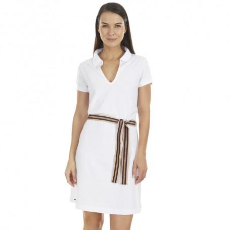 Selmark dámské letní šaty BB595 bílé