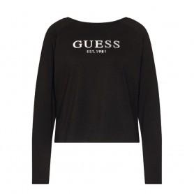 Guess tričko s dlouhým rukávem O0BI01 černé